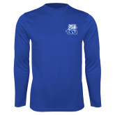 Syntrel Performance Royal Longsleeve Shirt-Official Logo