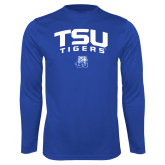 Performance Royal Longsleeve Shirt-Arched TSU Tigers