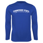 Syntrel Performance Royal Longsleeve Shirt-Arched Tennessee State University