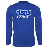 Syntrel Performance Royal Longsleeve Shirt-Basketball