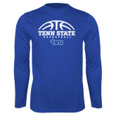 Syntrel Performance Royal Longsleeve Shirt-Tenn State Basketball w/ Half Ball