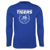 Performance Royal Longsleeve Shirt-Tennessee State Tigers Volleyball Stacked