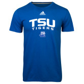Adidas Climalite Royal Ultimate Performance Tee-Arched TSU Tigers