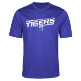 Performance Royal Heather Contender Tee-Tigers Slanted w/ Logo