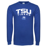 Royal Long Sleeve T Shirt-Arched TSU Tigers