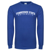 Royal Long Sleeve T Shirt-Arched Tennessee State University