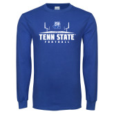 Royal Long Sleeve T Shirt-Tenn State Football w/ Field