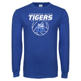 Royal Long Sleeve T Shirt-Tennessee State Tigers Volleyball Stacked