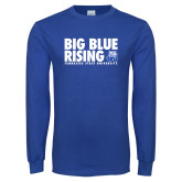 Royal Long Sleeve T Shirt-Big Blue Rising