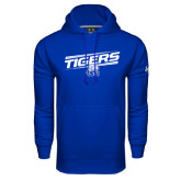 Under Armour Royal Performance Sweats Team Hoodie-Tigers Slanted w/ Logo