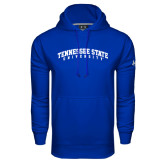 Under Armour Royal Performance Sweats Team Hoodie-Arched Tennessee State University