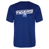 Syntrel Performance Royal Tee-Tigers Slanted w/ Logo