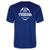 Syntrel Performance Royal Tee-Tennessee State Tigers Football w/ Vertical Ball
