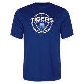 Syntrel Performance Royal Tee-Tigers Basketball Arched w/ Ball