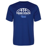 Syntrel Performance Royal Tee-Tenn State Basketball w/ Half Ball