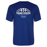 Performance Royal Tee-Tenn State Basketball w/ Half Ball