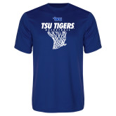 Performance Royal Tee-TSU Tigers Basketball w/ Hanging Net