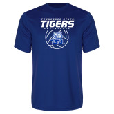 Performance Royal Tee-Tennessee State Tigers Volleyball Stacked