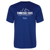 Syntrel Performance Royal Tee-Tennessee State Volleyball Half Ball