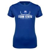 Ladies Syntrel Performance Royal Tee-Tenn State Football w/ Field