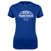 Ladies Syntrel Performance Royal Tee-Tenn State Basketball w/ Half Ball