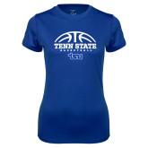 Ladies Syntrel Performance Royal Tee-Tenn State Basketball w/ Half Ball