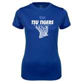 Ladies Syntrel Performance Royal Tee-TSU Tigers Basketball w/ Hanging Net