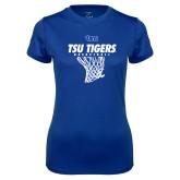 Ladies Syntrel Performance Royal Tee-TSU Tigers Basketball w/ Hanging Net