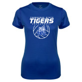 Ladies Syntrel Performance Royal Tee-Tennessee State Tigers Volleyball Stacked