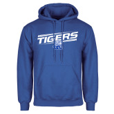 Royal Fleece Hood-Tigers Slanted w/ Logo