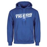 Royal Fleece Hoodie-Tigers Slanted w/ Logo