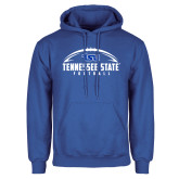 Royal Fleece Hoodie-Tennessee State Football w/ Ball
