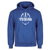 Royal Fleece Hoodie-Tennessee State Tigers Football w/ Vertical Ball
