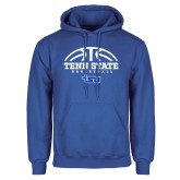 Royal Fleece Hood-Tenn State Basketball w/ Half Ball