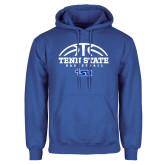 Royal Fleece Hoodie-Tenn State Basketball w/ Half Ball