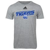 Adidas Sport Grey Logo T Shirt-Tigers Slanted w/ Logo