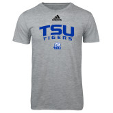 Adidas Sport Grey Logo T Shirt-Arched TSU Tigers