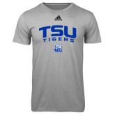 Adidas Climalite Sport Grey Ultimate Performance Tee-Arched TSU Tigers