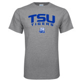 Grey T Shirt-Arched TSU Tigers