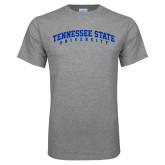 Grey T Shirt-Arched Tennessee State University