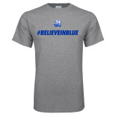 Grey T Shirt-#BelieveInBlue
