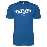 Next Level SoftStyle Royal T Shirt-Tigers Slanted w/ Logo