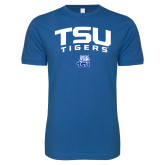 Next Level SoftStyle Royal T Shirt-Arched TSU Tigers