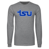 Grey Long Sleeve T Shirt-TSU