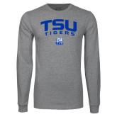 Grey Long Sleeve T Shirt-Arched TSU Tigers