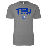 Next Level SoftStyle Heather Grey T Shirt-Arched TSU Tigers