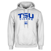 White Fleece Hoodie-Arched TSU Tigers