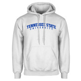 White Fleece Hoodie-Arched Tennessee State University