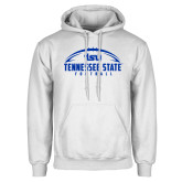 White Fleece Hoodie-Tennessee State Football w/ Ball