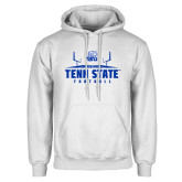 White Fleece Hood-Tenn State Football w/ Field